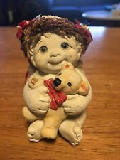Dreamsicles Baby Angel With Teddy Bear Figurine