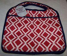 CUL-DE SAC Neoprene Lunch Bag RED/WHITE/BLUE ~ NWT