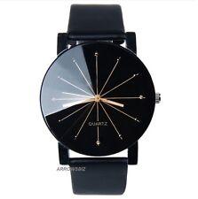 Classic Fashion Designs Men's Analog Dress Formal Style Leather Wristwatch Watch