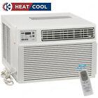 GE 11800 BTU Air Conditioner w/ 8700 BTU Heat, Window or Thru-Wall Home AC Unit  photo