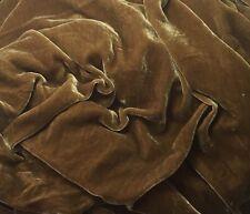 "Silk VELVET Fabric ANTIQUE GOLD 9""x22"" remnant"