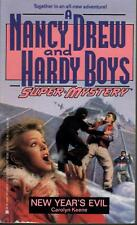 Nancy Drew / Hardy Boys. New Year's Evil. Super Mystery.  Excellent Condition.PB