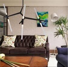 Modern 10-Light Chandeliers Black Metal Branch Lighting Fixtures Pendant Lamps