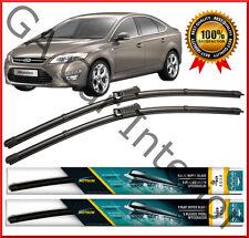 "Ford Mondeo 2007 2008 2009 2010 2011 Front Pair Flat Aero Wiper Blades 26"" 19"""