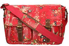 New LYDC Floral Pin Womens School Satchel Bag Messenger Ladies Handbag Crossbody
