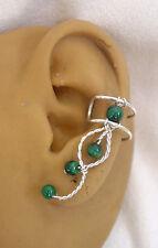 Left  Single Malachite earcuff/ ear clip  #79MAL