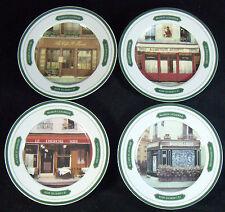 """Set of 4 Williams Sonoma Les Bistro 7 3/4"""" Salad Plates Paris Cafe Andre Renoux"""