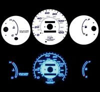 96-00 Civic MT w/o Tach Blue Indiglo Glow White Gauges 96 97 98 99 00