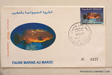 MAROC premier jour d emission  FAUNE MARINE  2002   MA23