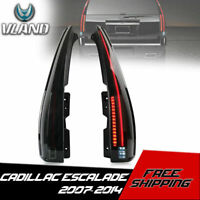 VLAND LED Tail Lights Smoked For 2007-2014 Cadillac Escalade / ESV 2016 Version
