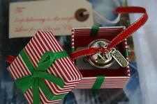 Creo que estilo Polar Express Plateado Metal Campana En Caja De Navidad Jingle Santa Reino Unido