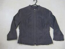 Gorgeous Gray Jacket Top 3/4 Length Sleeves / Size Med / NEW BNWOT