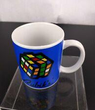 Rubik's Cube Cup Coffee Mug Tea Java Decor Gift Blue White Fun Backstage Pass
