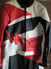 Select Leathers 2 Piece Mens Leather Motorcycle Motorbike Suit Red Black Wh 40US