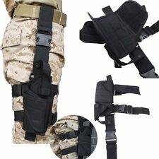 Adjustable Airsoft Tactical Hunting Pistol Gun Drop Leg Thigh Holster Pouch Bag