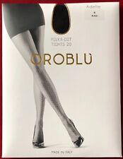 5 Pairs Oroblu Adelle Polka-Dot 20 Sheer To Waist Tights pantyhose Small Black