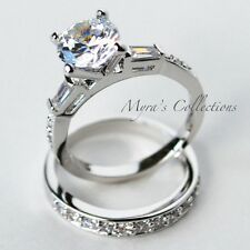 4.0 CARAT CHANNEL SET BRIDAL WEDDING ENGAGEMENT RING BAND SET WOMEN'S SIZE 6