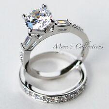 4.0 CARAT CHANNEL SET BRIDAL WEDDING ENGAGEMENT RING BAND SET WOMEN'S SIZE 6
