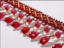 1m Curtain Sewing Tassel Fringe Trim Tassel Crystal bead Lace Accessory