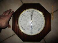 Ancien Vintage Baromètre octogonale Pagès Chalon sur Saône