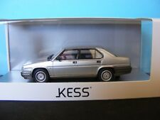 Alfa Romeo 90 Quadrifoglio Oro in Metallic Silver  Made by Kess  1:43 New