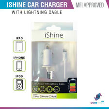Genuine MFI Approved Lightning Car Charger For Apple iPhone 11 X 6 7 8 iPad iPod