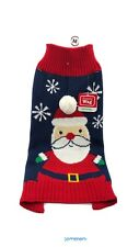 New listing Simply Wag Dog Navy Sweater With Santa And Snowflakes Multicolored Size Medium