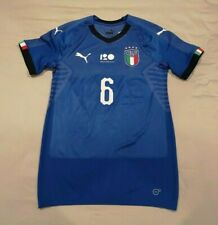 Italy Italia Federico Dimarco Player Issue Evoknit  2018 Home 120 FIGC Shirt Mag