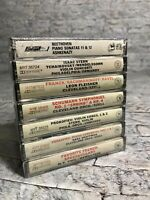 CBS Great Performances 7 Cassette Lot Schuman Beethoven Tchaikovsky Classical
