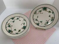 """Lot of 8 Noritake Keltcraft Ivy Lane 9180 Salad Plates 7 5/8"""" Ireland PRISTINE!!"""