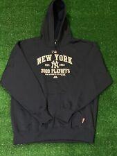 New York Yankees MLB Authentic 2009 Playoffs Hooded Sweatshirt Size XL