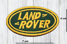 LAND ROVER RANGE ROVER IRON OR SEW ON EMBROIDERED GOLD PATCH APPLIQUE LOGO