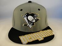 NHL Pittsburgh Penguins Zephyr Stretch Flex Hat Cap Cross Cut