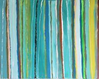 "Original Abstract Art 24"" x 30"" Signed Acrylic Painting on Canvas Ocean Beach"