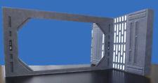 Death Star Blast Doors 2 pk Hallways 3.75 Star Wars Hasbro Kenner Free Shipping