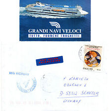 ITALIAN FERRY MN VICTORY SHIPS CACHED COVER & A SMALL MAGAZINE PICTURE