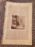 Distillation of Water - 1883 Book Print