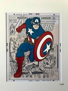 Captain America - Marvel Avengers - Cartoon - Hand Drawn & Hand Painted Cel