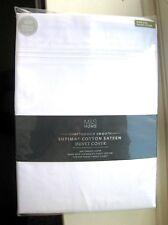 M & S, 600 fils au pouce Supima ® Satin Housse De Couette Blanc, le roi ** NEUF **