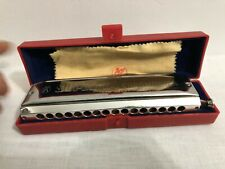 M. HOHNER SUPER 64 HARMONICA CHROMONICA CHROMATIC NO. 7582 MADE IN GERMANY
