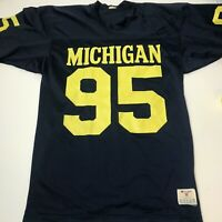 Vintage 80s Michigan Wolverines Champion Football Jersey Medium