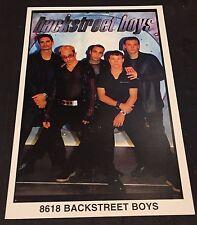 BACKSTREET BOYS #8618 Rare MINI Promotional POSTER Identifier 3x5 Inch STARLINE