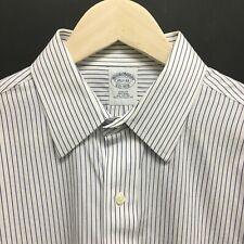 Mens 15.5 - 32 BROOKS BROTHERS Slim Fit Dress Shirt Striped 26c