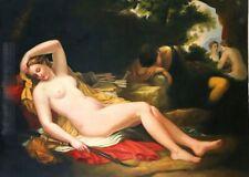 femme nue tableau peinture huile sur toile / painting on canvas nude