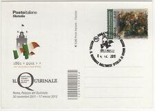 Italia 2011 Roma Quirinale Unità d'Italia annullo cartolina
