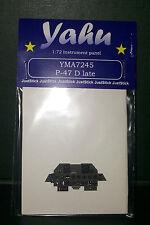 Yahu modèles 1/72 ème 04899 Revell, PE instrument panneaux P-47 D en retard pour tamyia, yma7245