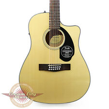 Brand New Fender CD-60SCE Dreadnought 12 String Acoustic Electric in Natural