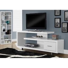 "60"" TV Stand Console Shelves Drawer Table Entertainment Wood Modern Gloss White"