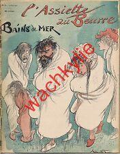 L'assiette au beurre n°74 du 30/08/1902 Bains de mer, par Albert Robida Plage