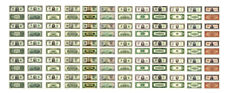 1:24 1:25 G scale model money U.S currency dollar bills